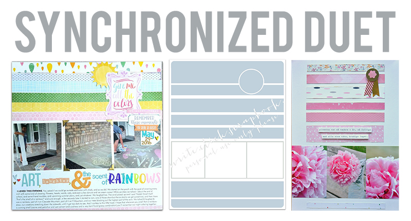 Synchronized duet one write click scrapbook
