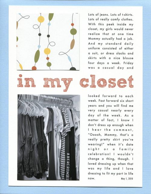 In My Closet | Monika Wright