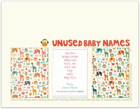 Unused Baby Names | Marnie Flores