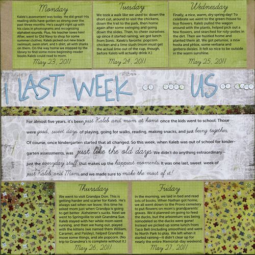 One Last Week | Amy Sorensen