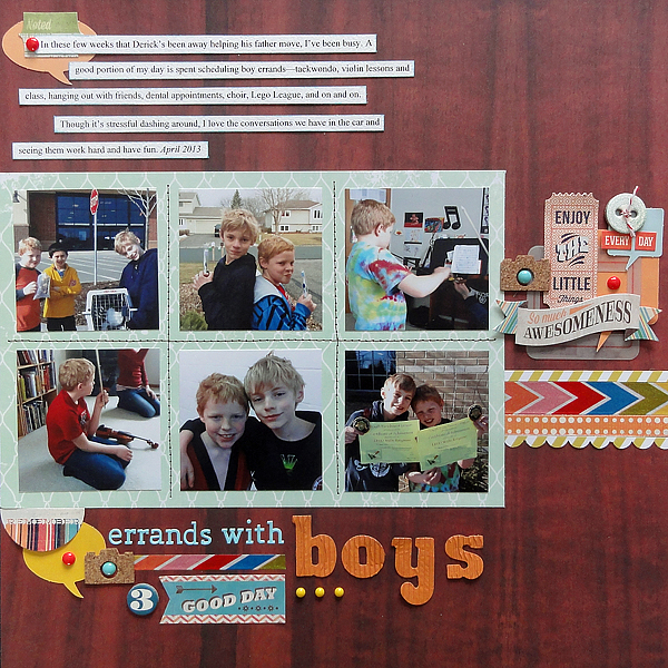 Errands with Boys | Jennifer Larson