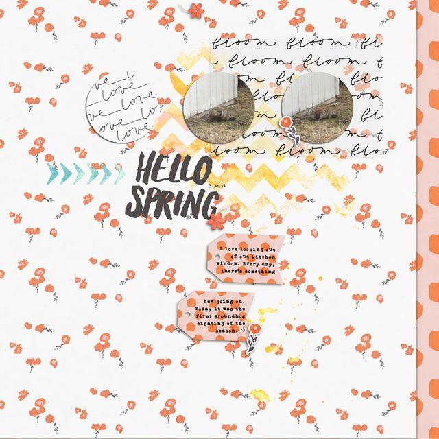 Hello Spring 2015 | Cristina C. Scrap