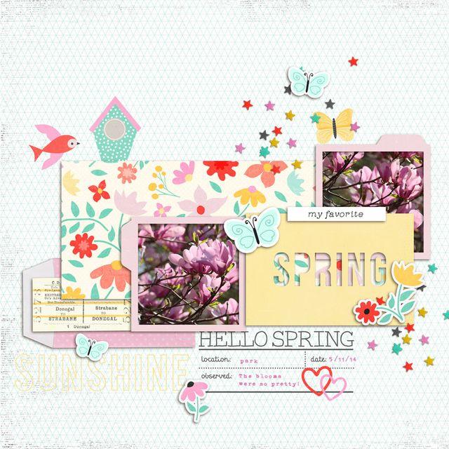 Hello Spring | Cristina C. Scrap