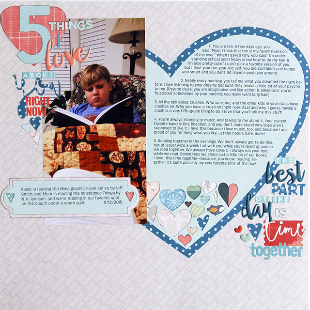"""5 Things I Love</br><span style=""""font-size: 8pt;"""">by</span> Amy"""