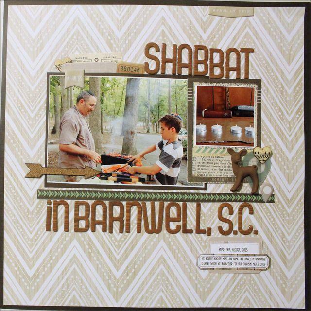 "Shabbat in Barnwell, S.C.</br><span style=""font-size: 8pt;"">by</span> Aliza Deutsch"