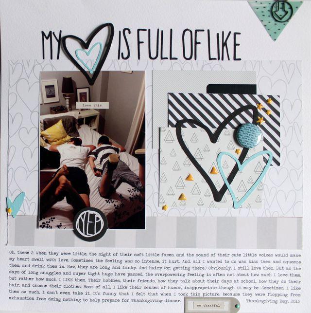 "My Heart is Full of Like</br><span style=""font-size: 8pt;"">by</span> Aliza Deutsch"
