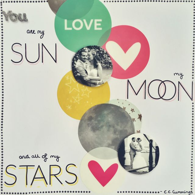 "Sun, Moon & Stars</br><span style=""font-size: 8pt;"">by</span> Dee"
