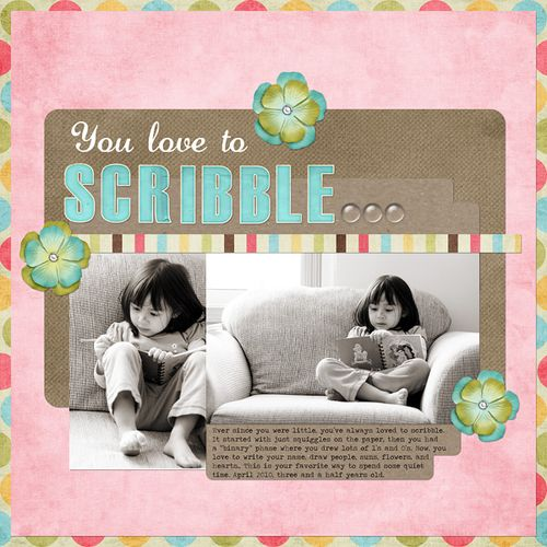 You Love to Scribble | Ann Costen