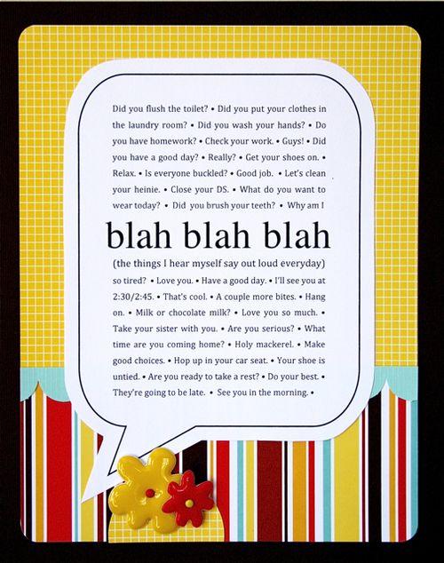 Blah Blah Blah | Beth Proudfoot