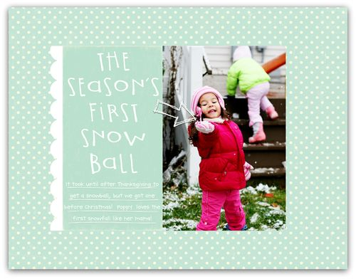 First Snowball | Marnie Flores
