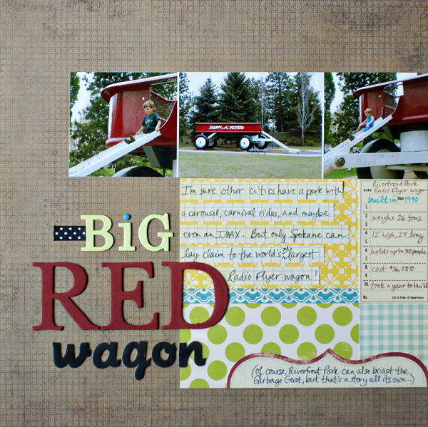 Big Red Wagon | Melissa Kaiserman