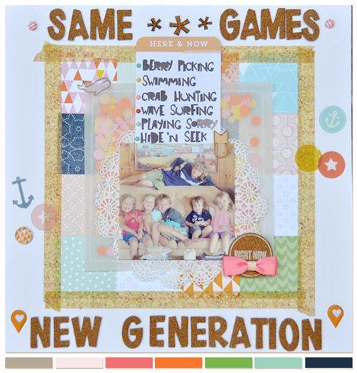Same Games, New Generation | Sarah Pendergrast