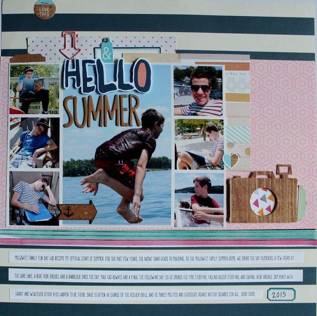 "Hello Summer</br><span style=""font-size: 8pt;"">by</span> Aliza Deutsch"