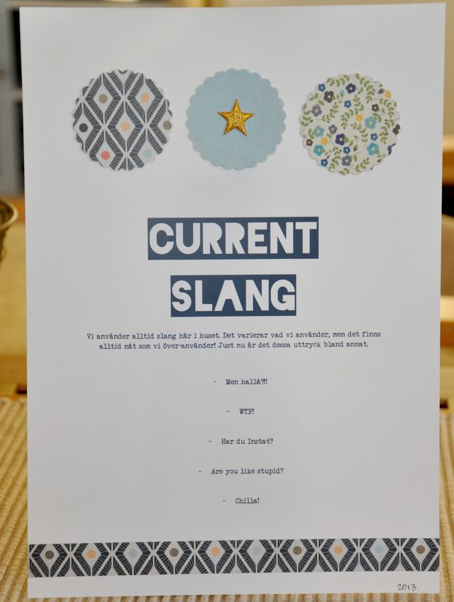 Current Slang | Lisa Ottosson